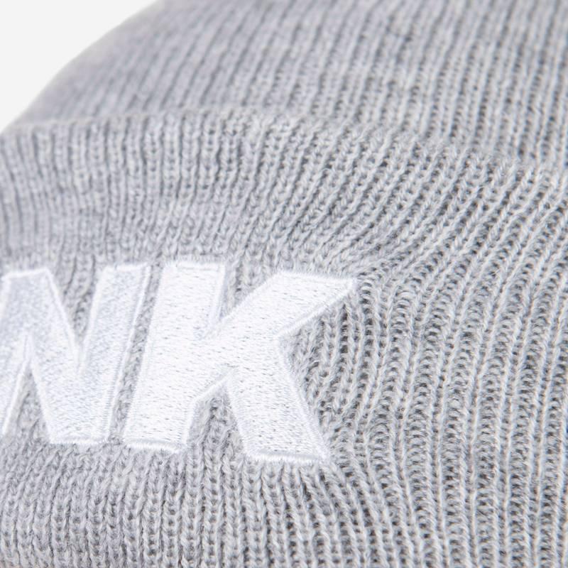 Nebelkind Beanie Lightgrey with Logo in light gray